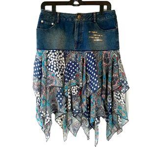 Chagall boho handkerchief skirt